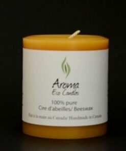 Bougie Cylindre Aroma Eco Candles 55Heures