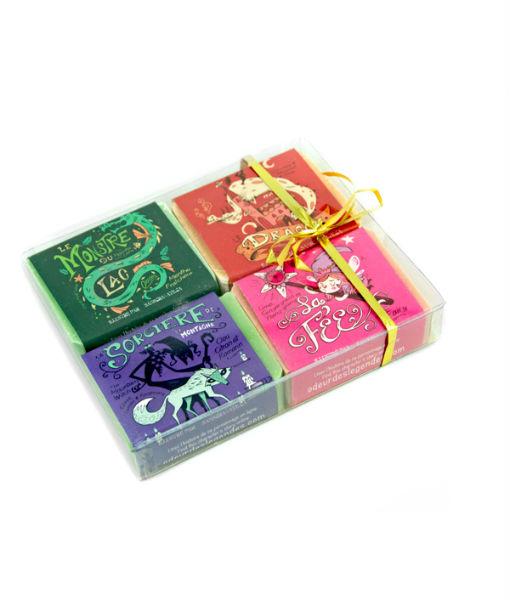 Boîte cadeau 4 savons