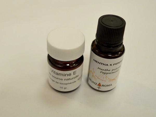 Vitamine E et huille essentielle